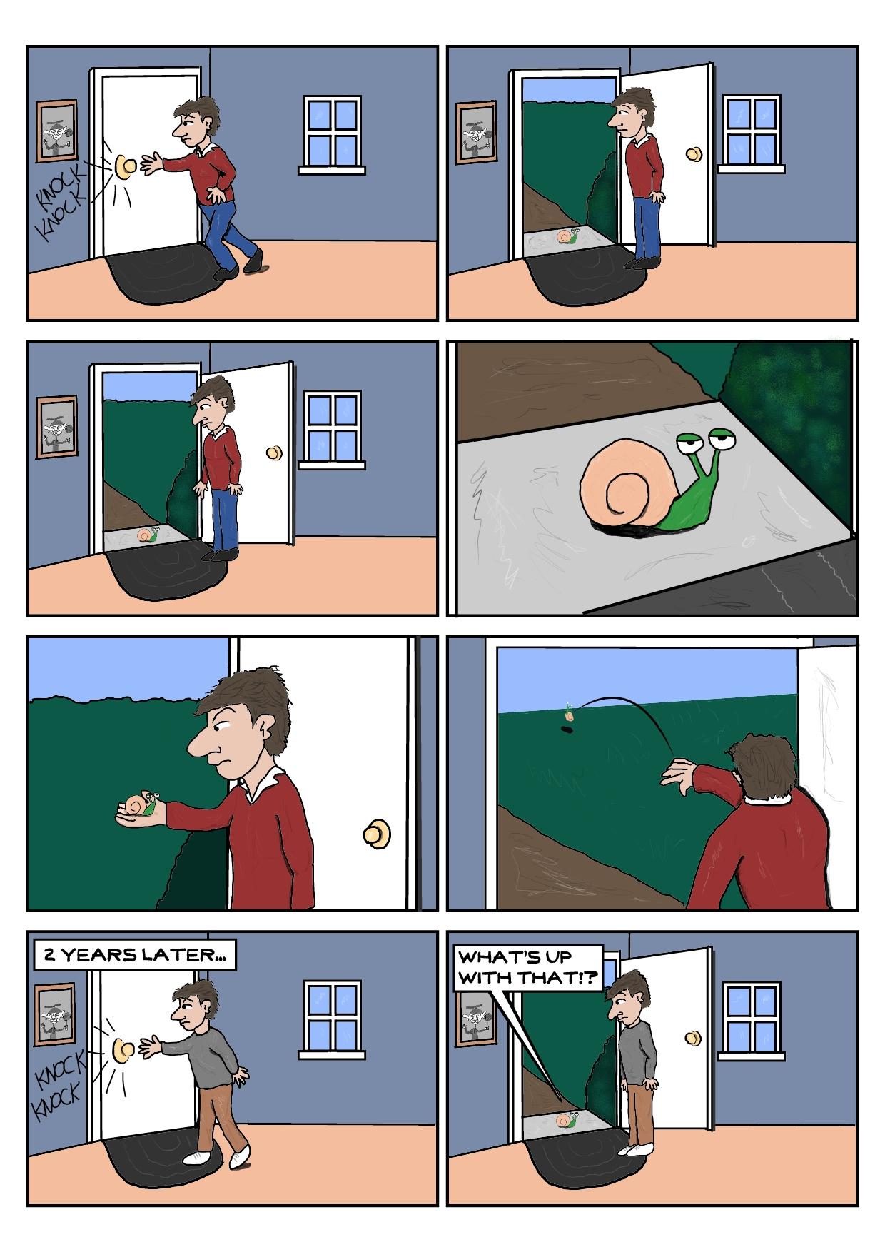Illustration Of The Snail Joke